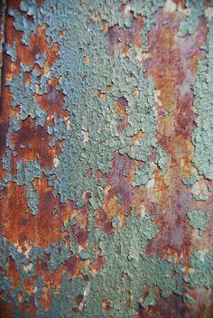 rust and peeling paint