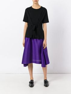 Pleats Please By Issey Miyake pleated draped skirt