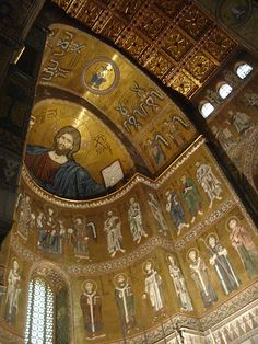 Bizancio  ,,Monreale Cathedral in Palermo province, Sicily region Italy. Next time I visit the in-laws i'm going here!
