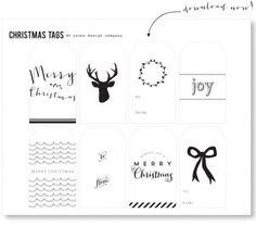 Christmas Gift Tags - Free Printables - Jones Design Company