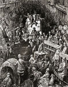 Traffic Jam in London by Gustav Dore --- Image by © Bettmann/CORBIS