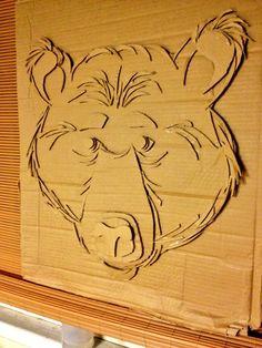 Cardboard Black bear #Art, #Bear, #Cardboard, #Recycled