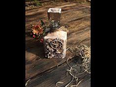 Декорирование 3D бутылки. Обратный декупаж. (Decoration bottle. Reverse decoupage). - YouTube