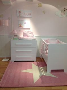 pink and white Childrens Room, Childrens Bedroom Decor, Baby Nursery Furniture, Nursery Room, Room Wall Decor, Baby Room Decor, Deco Kids, Baby Room Colors, Stylish Bedroom