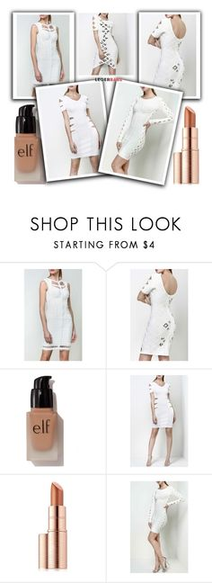 """""""Legerbabe White knit dress"""" by legerbabedress ❤ liked on Polyvore featuring e.l.f. and Estée Lauder"""