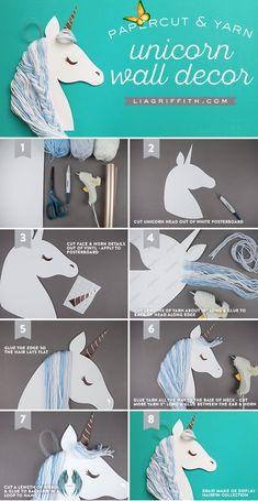 Einhorn Wanddekoration ist einfach und liebenswert.,  #ArtAndCraftdiy #einfach #Einhorn #ist ...  <br> Unicorn Wall Art, Unicorn Rooms, Unicorn Bedroom, Art Crea, Diy Craft Projects, Diy And Crafts, Craft Ideas, Diy Ideas, Easy Crafts