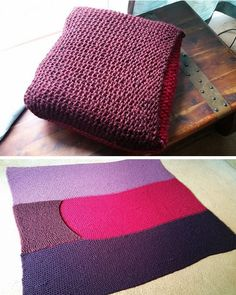 Crocheted Travel Blanket That Folds Into A Pillow Perfect