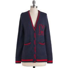 Red-Letter Day Cardigan ($37) ❤ liked on Polyvore