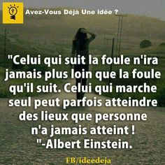 Originalité Magic Quotes, Best Quotes, Motivational Messages, Inspirational Quotes, Aesthetic Words, French Quotes, Albert Einstein, Cool Words, Sentences