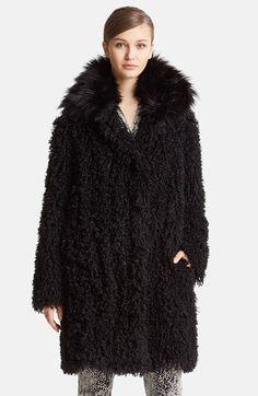 Lanvin Faux Mongolian Fur Coat available at #Nordstrom