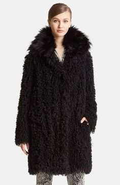 Lanvin Faux Mongolian Fur Coat available at #Nordstrom