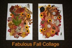 fabulous fall collage - smoosh painting and then collage with nature items (happy hooligans)