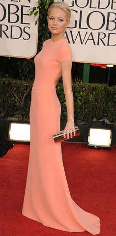 Emma Stone - 2011 Golden Globe Awards / Calvin Klein