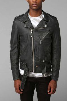 Mens Black Leather Biker Jackets: Spring 2015 Edition