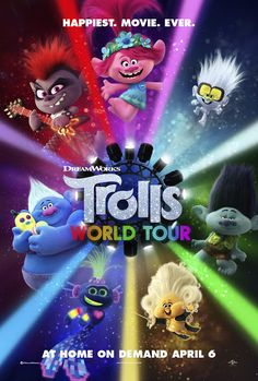 Official theatrical movie poster ( of for Trolls World Tour [aka Trolls Starring Justin Timberlake, Anna Kendrick, Sam Rockwell 2020 Movies, Hd Movies, Movies To Watch, Movies Online, Movie Tv, Films Hd, Movies Free, Indie Movies, Action Movies