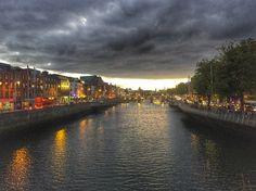 Dublin by dusk Dusk, Dublin, My Photos, River, Outdoor, Outdoors, Outdoor Games, Outdoor Living, Rivers