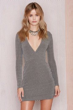 After Party Vintage Jina Metallic Dress | Shop What's New at Nasty Gal