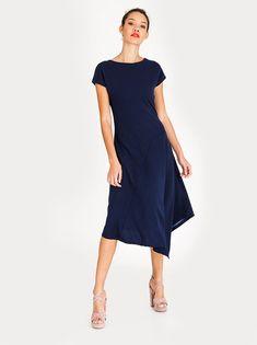 7fe76bf3a502 STYLE REPUBLIC Asymmetrical Dress Navy