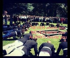 "NEVER above you, NEVER below you, ALWAYS beside you! Chris Kyle's ""brothers"" at his funeral"