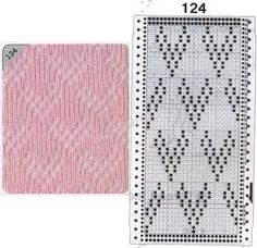 Pattern 124 - False openwork and card for the Brother knitting machine Knitting Machine Patterns, Lace Knitting Patterns, Knitting Charts, Stitch Patterns, Pinterest Cards, Brother Knitting Machine, Knit Purl Stitches, How To Purl Knit, Card Patterns