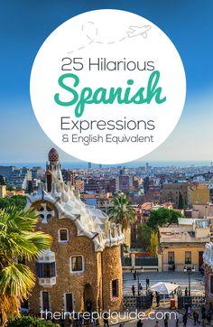 Estos son algunos cómicos frases en español.