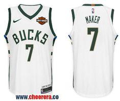07f0063fd Men s Nike NBA Milwaukee Bucks  7 Thon Maker Jersey 2017-18 New Season  White Jersey