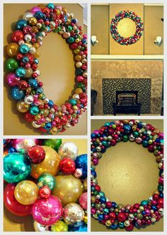 Out of Alabaster: Vintage Ornament Wreath.
