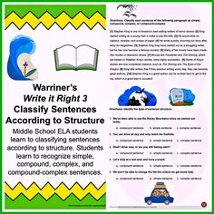 Excellent Middle School ELA Curriculum warrinersclassroom.com Click my TpT Store Tab!