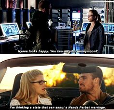 "#Arrow 3x23 ""My Name is Oliver Queen"" - Oliver and Felicity"