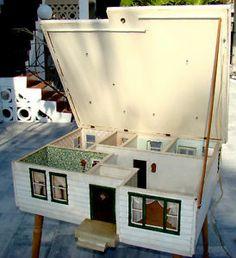 Huge Vintage Danish Modern 1950's Mid Century Handmade Wood Dollhouse Eames | eBay