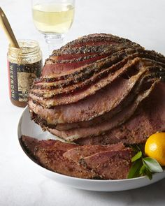 Hickory-Smoked Peppered Whole Ham
