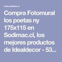 Compra Fotomural los poetas ny 175x115 en Sodimac.cl, los mejores productos de Idealdecor - 5342678. Poet, Home, Overlays, Digital Prints, Get Well Soon, Products