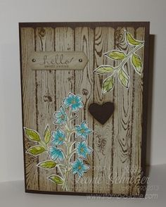 Stampin Up Hardwood Fence - Stamp A Latte - Stampin Up! with Leonie Schroder