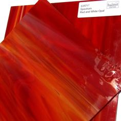 055f28fb5c5 Spectrum Red and White Opal Stained Glass Sheet S3571