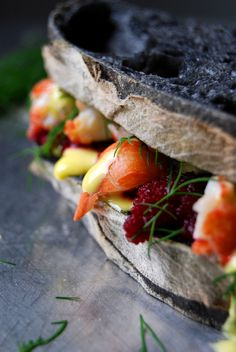 A Swedish Lobster Roll - Crayfish and Beetroot Mousse Sandwich ° eat in my kitchen