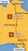 The Ghan Train Trip - Australia - Map