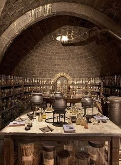 wizard's lab/kitchen