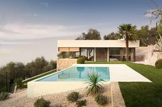 16 Dazzling Contemporary Swimming Pool Designs To Enjoy In The Summer Luxury Swimming Pools, Swimming Pools Backyard, Swimming Pool Designs, Outdoor Areas, Outdoor Pool, Villa, Backyard Pool Designs, Cool Pools, Glass House