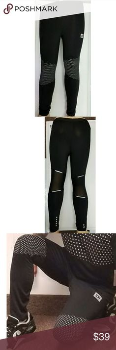 ICNY Reflective  Polka Dot Spandex Cycling Pants Icny sport spandex biker reflective hot pants   Black with white reflective polka dot   Material 86% polyester 14% spandex   Fit is true to size   Brand new with tags $60 retail ICNY sport Pants