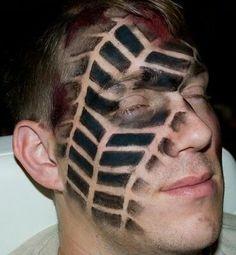 Tire face print makeup