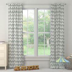 Custom drapes in Stella Chevron.  Created using the Drape Designer by Carousel Designs�. #carouseldesigns