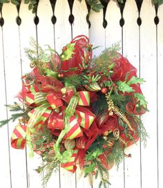 Christmas Wreaths Christmas Mesh WreathTraditional by Keleas
