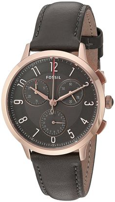 bbff5b88d #Fossil #Abilene Chronograph Quartz CH3099 Women's Watch Fossil Watches,  Grey Leather, Stainless