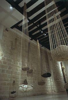 Milton Becerra installation Gotas 1990
