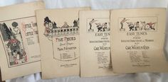 Vtg Lot Of 4 Piano Sheet Music Pieces Hatch Music