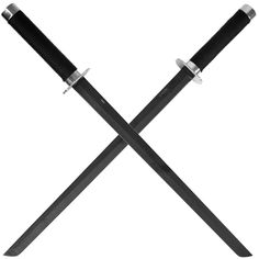 Full Tang Tactical Ninja Sword with Back Straps - 2 piece Tactical Knives, Tactical Gear, Cosplay Sword, Ninja Sword, Cool Swords, Ninja Weapons, Combat Gear, Fantasy Weapons, Knives And Swords