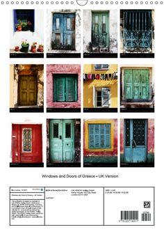Windows and Doors of Greece Calendar 2017 by JUSTART on Calvendo - UK Version