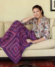 Lion Brand® Homespun® Miss Yvette's Afghan #crochet #pattern