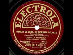 """Lied: """"Denkste denn, Du Berliner Pflanze..."""""""
