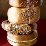 An assortment of beautiful bracelets.